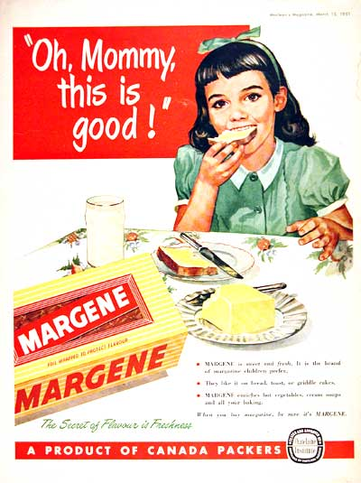 Vintage Margarine Advertisement